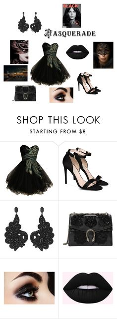 """""""Modern Masquerade"""" by fashionforward-822 ❤ liked on Polyvore featuring Masquerade, STELLA McCARTNEY, Gucci and modern"""