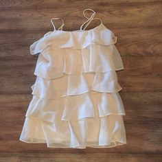 Cream ruffle blouse Cream ruffle blouse, adjustable straps Candies Tops