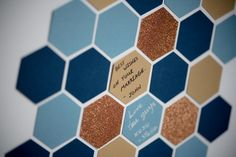 Wedding Guest Book | Steel Blue Geometric Geode Wedding Shoot | Royal Blue and Gold Wedding Color Theme Inspired from a Geometric Shapes | Modern, Unique and Gorgeous Wedding Decor You Must See Before Your Big Day! - Inspired Bride