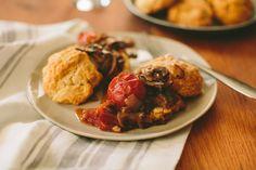 Buttermilk Biscuits with Mushroom Gravy