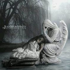 Goth Gothic sad girl angel angels fantasy