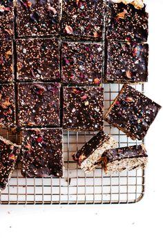 No-Bake Chocolate Tahini Oat Bars.