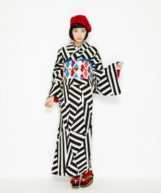 Rakuten - [2015 Furifu kimono Common] Iroha border: Furifu