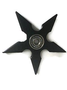 Black Five Pointed Shuriken Fidget Spinner
