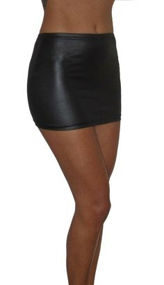 53bc2e203 WOMENS MINI MICRO SHORT BODYCON STRETCH BLACK WETLOOK 12