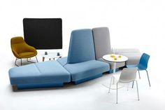 Naughtone Rhyme Modular Seating I am loving the simple chairs and clean look