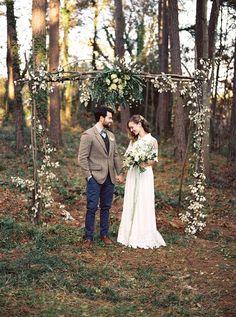 свадебная арка из веток фото