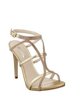 Adalee Metallic Strappy Heels | GUESS.com