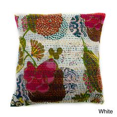 Ethnic Kantha Work Pillow Cover (India) | Overstock.com