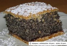 Ahogy a neve is elárulja, ez a mákos süti tényleg egy csoda! Hungarian Desserts, Hungarian Recipes, Cookie Recipes, Dessert Recipes, Czech Recipes, Croatian Recipes, Sweet And Salty, Homemade Cakes, Creative Food