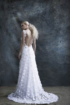 Our 'Claudia' #openback #romance Couture Wedding Gowns, Wedding Dresses, Fairytale Bridal, Bridal Collection, Body Shapes, Fairy Tales, Chic, Lace, Romance
