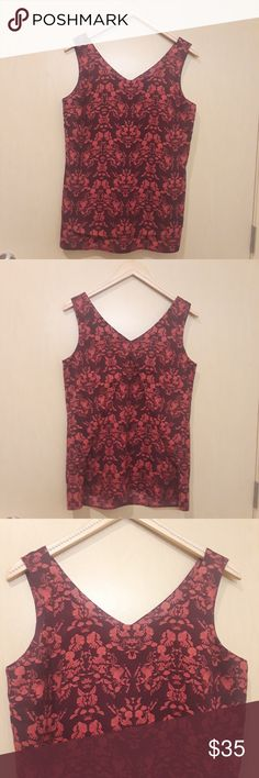 "CAbi #3258 Cameo Plum & Rspberry Sleeveless Blouse CAbi M #3258 Cameo Plum Purple and Raspberry Pink with Pattern Sleeveless Blouse  Approximate Measurements: Pit to Pit: 20"" Length: 27"" From top of shoulder strap to bottom of blouse. Condition: No rips, no stains  A01 CAbi Tops Blouses"