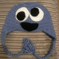 Cookie monster Cookie Monster, My Design, Crochet Hats, Beanie, Fashion, La Mode, Beanies, Fashion Illustrations, Fashion Models