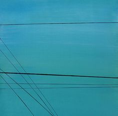 Ronda Stephens - Power Lines 17 - Thirty Paintings in Thirty Days ©AbstractionsbyRonda / http://abstractionsbyronda.blogspot.com
