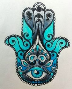 Hamsa Or Hand Of Fatima Good Luck Charm Vector Illustration