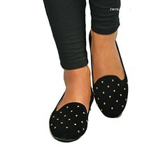 ebfd71c00a Casual Office, Suede Flats, Comfortable Shoes, Ballerinas, Studs, Comfy  Shoes, Ballerina Pumps, Spikes, Stud Earrings