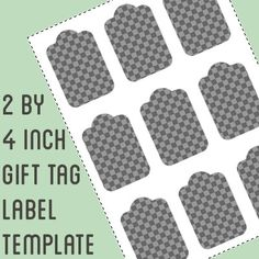 25x5 shipping tag template instant download psd and png formats gift tag label template 2 by 4 inch retangle do it yourself gift solutioingenieria Images