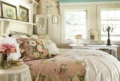 Shabby bedroom - I wouldn't mind sleeping here!
