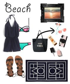 """""""Beach Vibes"""" by aceamy on Polyvore featuring J.Crew, Biarritz, Billabong, The House of Marley, Venus, Ray-Ban, Kate Spade, Chanel, beach and summerdate"""