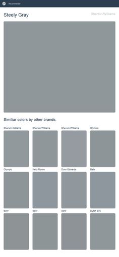 Steely Gray, Sherwin-Williams.