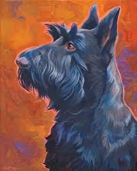 funny Scottie dogpainting - Google Search