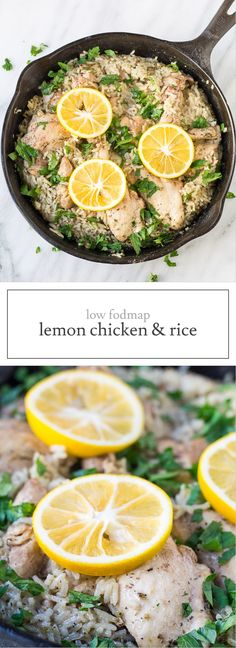 Creamy, but dairy free, this comforting Low FODMAP Lemon Chicken and Rice is a delicious meal-in-one-skillet.It's also gluten free!