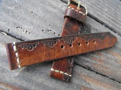 Grunge Leather Watch Band, Antique Brown Strap, #accessories #watch @EtsyMktgTool http://etsy.me/2y1PQJc