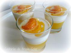 Receitas do caldeirão da Bruxa Solar: Panna cotta com gelatina de laranja e calda de tangerina