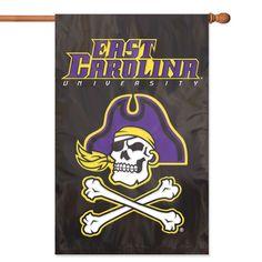 East Carolina Pirates NCAA Applique Banner Flag (44x28)
