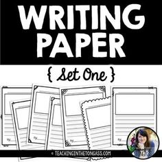 These free writing papers include lines for larger handwriting and a picture box for drawing about writing. They're simple, black and white (ink-friendly!) and can easily be used all year long. I hope your class enjoys them! Click here to check out more Writing Workshop resources!