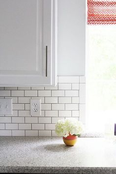 subway tiles kitchen backsplash tile grout kitchens street grey amp dining coastal accent with white Diy Tile, Backsplash, White Subway Tiles Kitchen Backsplash, Kitchen Tiles Backsplash, Grey Backsplash, Kitchen Design, Kitchen Remodel, Kitchen Renovation, Trendy Kitchen
