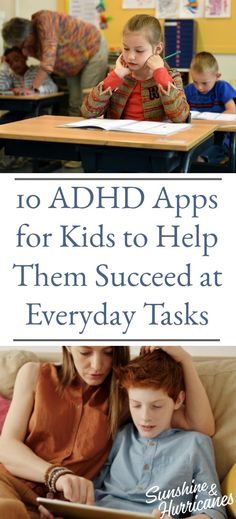 10 ADHD Apps for kids to help them succeed at everyday tasks. #AppsForKids #SpecialNeeds #Kids #Apps  #ADHD