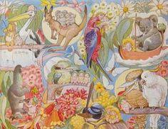 cecelia may gibbs Australian Vintage, Old Cards, Flower Fairies, Aboriginal Art, Australian Artists, Botanical Art, Childrens Books, My Arts, The Incredibles