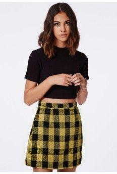 Ellie Check A Line Skirt
