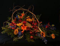 blue and orange casket spray - Google Search