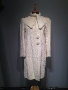 Ermine 40's Fur Coat by CestLaVieBoutique6 on Etsy