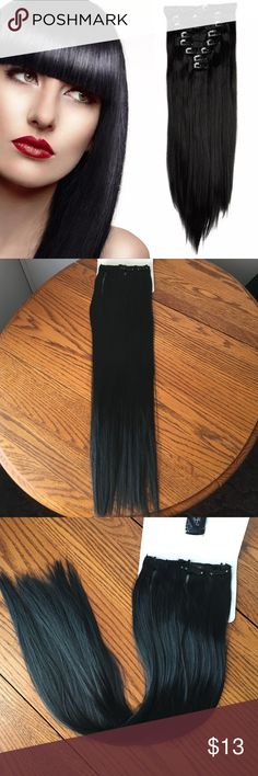 Bleach blonde clip in synthetic hair extensions nwt synthetic bleach blonde clip in synthetic hair extensions nwt synthetic hair extensions bleach blonde and synthetic hair pmusecretfo Gallery