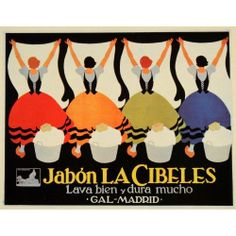 1927 Federico Ribas Jabon La Cibeles Soap - Mini Poster