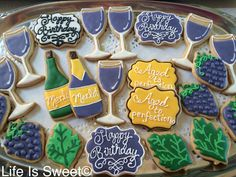 Facebook.com/lifeissweetcookie. Aged to perfection birthday cookies