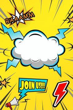 Pop Art Background, Poster Background Design, Geometric Background, Comic Book Layout, Pop Art Illustration, Comic Styles, Banner Design, Colorful Backgrounds, Comic Art