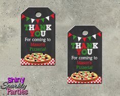 Pizza Party Favor Tags - Pizza Party Ideas