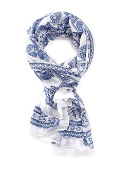 Paisley Print Scarf   FOREVER21 this has to be one of my favorite patterns ever. Especially in blue/white