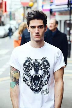 Wow that tattoo and the shirt.... Fierce!!!!! #_#
