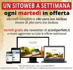 Ogni settimana un sito web in offerta! oggi tocca a questo: http://serviziperfetti.com/web45/