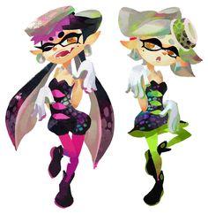 Nuevas figuras amiibo de las Squid Sisters