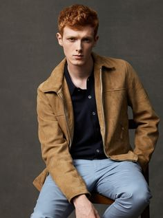 Approaching its spring 2017 collection, Abercrombie & Fitch continues to impress with its smooth revamp. Designer Aaron Levine delivers another season of… Cute Ginger, Ginger Boy, Beautiful Boys, Pretty Boys, Redhead Men, Cute White Guys, Men's Collection, Redheads, Hot Guys
