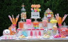 Confettata with sweets and candies