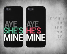 Aw, these are cute :) iPhone 5 couple's cases....perfect for the especially insecure couple. Almost as bad as shared social media profiles.