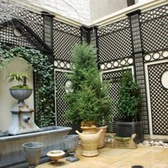 Courtyard with fountain, custom