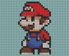 Little Mario Cross Stitched by ~drsparc on deviantART
